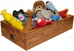 Dynamic Accents Solid Wood Dog Toy Box in Cedar (Small)