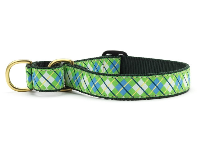 Blue And Green Up Country Dog Collar