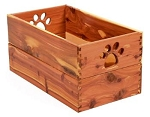 Natural Hardwood Dog Toy Box in Your Choice of 4 Eco Friendly Finishes