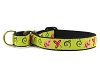 Green Floral Martingale Dog Collar