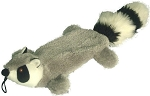 Petlou Raccoon Plush Dog Toy Crinkles and Grunts