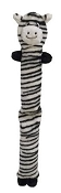 Petlou Ez Colossal Zebra Puppy Dog Toy Stuffing Free Tug