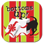 Bottoms Up! Christmas Dog Lover Coaster