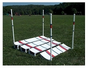 Dog Agility Practice Broad Jump with Marker Poles
