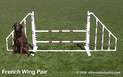 Dog Agility Wing Pair - French Style (Jump Not Included)