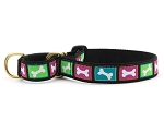 Up Country Bright Bones Martingale Dog Collar