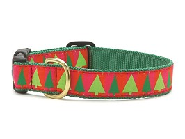 Up Country Festive Tree Dog Collar
