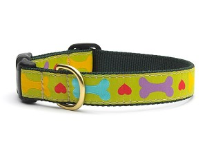 Up Country Heart and Bone Dog Collar