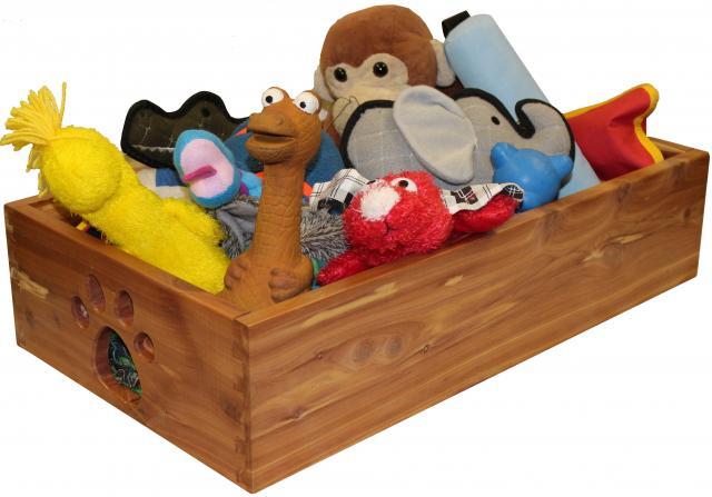 Dynamic Accents Solid Wood Dog Toy Box in Cedar (Small)