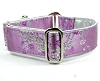 2 Hounds Design Satin Lined Elite Dog Collar Cherry Blossoms - Lilac