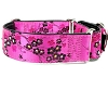 Satin Lined Elite Martingale Dog Collar Cherry Blossoms Fuchsia