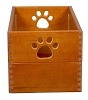 Dynamic Accents Natural Hardwood Dog Toy Box in Eco Friendly Artisan Bronze Finish