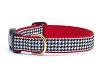 Up Country Classic Black White Houndstooth Dog Collar