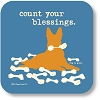Count Your Blessings Drink Coaster