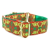 Holiday Scroll Satin Lined Dog Martingale or Collar
