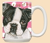 Boston Terrier Dog Breed Mugs Pink