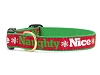 Naughty & Nice Holiday Ribbon Dog Collar