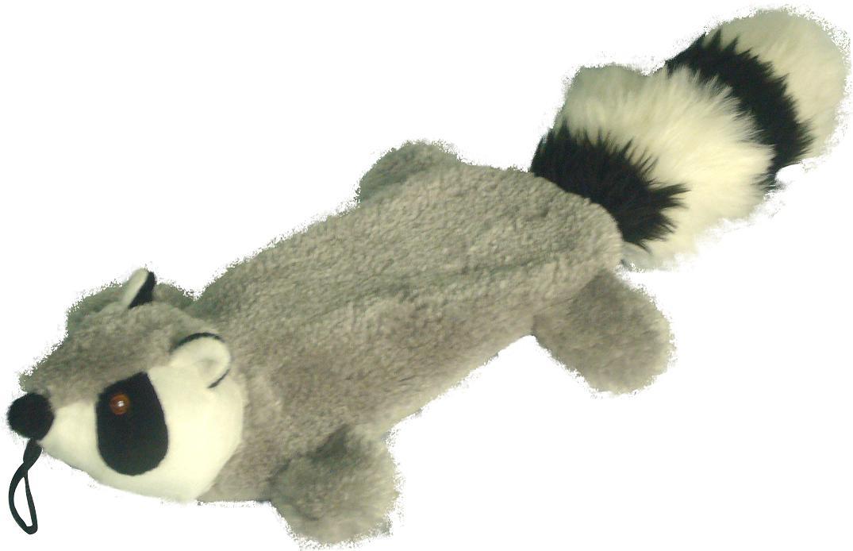 Petlou Raccoon Plush Dog Toy Crinkles And Grunts
