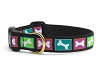 Up Country Bright Bones Dog Collar