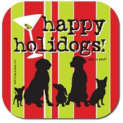 Happy Holidogs! Christmas Dog Coaster