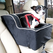 Snoozer High-Back Console Pet Car Seat X-Large HIGH BACK- BLACK/HERRINGBONE -- OPEN BOX SPECIAL