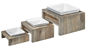 Bowsers Artisan Real Wood Single Diner in Fossil, Bamboo or Walnut