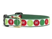 Holiday Bow Wow Ribbon Dog Collar