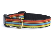 Up Country Bright Stripe Dog Collar