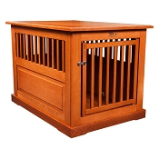 Dynamic Accents Amish Crafted Fortress Oak End Table Pet Crate