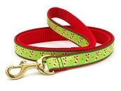 Up Country Candy Canes Dog Holiday Lead 6' L 5/8