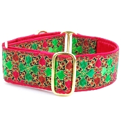 2 Hounds Design Holiday Glass Dog Collar or Martingale
