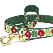 Up Country Bow Wow Holiday Dog Leash