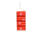 Dog Waste Poop Pick Up Bags Red w/ Paw Prints, Scented 8 Rolls =120 Bags