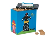Up Country Black and White Dog Treat Box