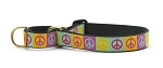 Up Country Peace Sign Martingale Dog Collar