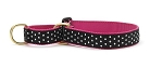 Up Country Black White Dot Martingale Collar