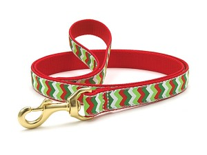 Up Country Christmas Chevron Dog Lead