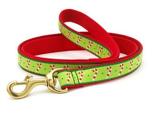 "Up Country Candy Canes Dog Holiday Lead 6' L 5/8"" W"