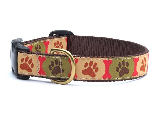 Up Country Pawprints Dog Collar