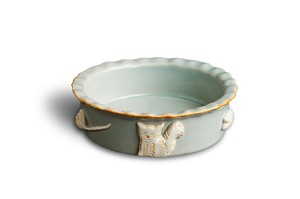 Carmel Ceramica Cat Food or Water Bowl - French Grey