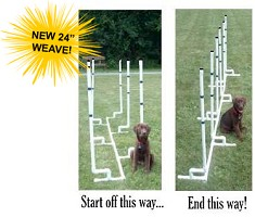 Dog Agility Channel Weave Set (12)