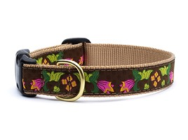 Up Country Chocolate Floral Pet Fashion Collar