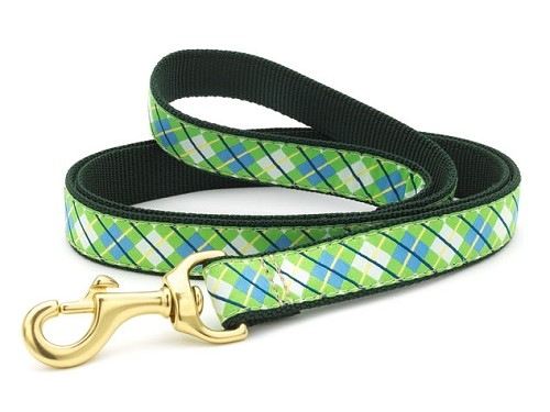 Up Country Blue Green Argyle Dog Lead