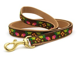 Up Country Chocolate Floral 6 ft Dog Leash