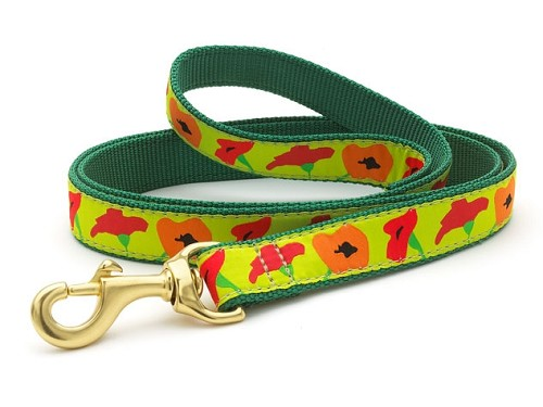 Up Country Poppy Flower Dog Leash