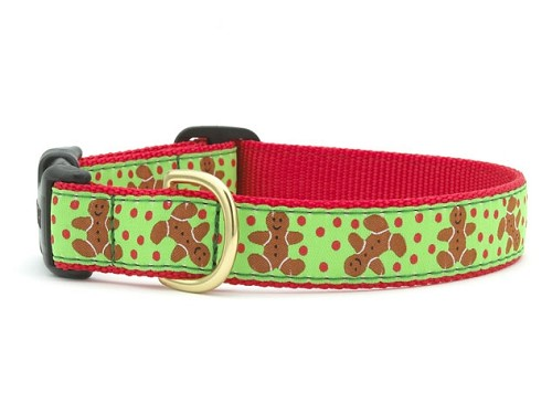 Up Country Gingerbread Man Holiday Dog Collar