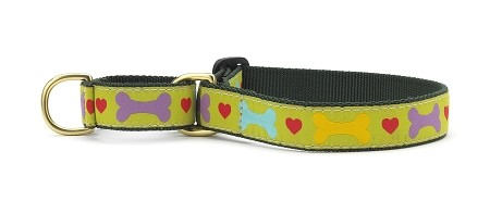 Up Country Heart & Bone Martingale Dog Collar