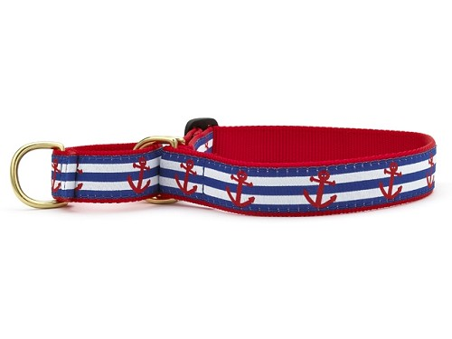 Up Country Anchors Aweigh Martingale Dog Collar
