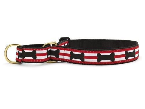 Up Country Got Bones Martingale Dog Collar