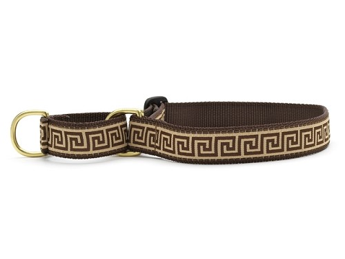 Up Country Greek Key Martingale Dog Collar